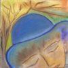 135 Femme au chapeau bleu Sept17 P30x30