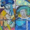 140-La Reine d'Angleterre au carnaval de Venise Fév18 P30x30